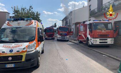 Incendio in un condominio a Prato