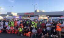 Gkn, decine di ambulanze della Pubblica Assistenza davanti alla fabbrica