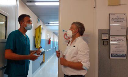 Troupe norvegese al S.M. Nuova per intervistare l'anestesista Lastrucci