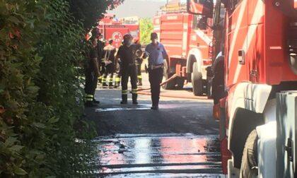 In corso un incendio in via Castronella