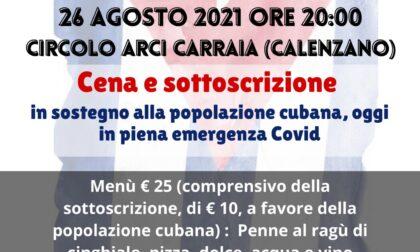 Giovedì al circolo Arci Carraia di Calenzano la serata per la popolazione cubana