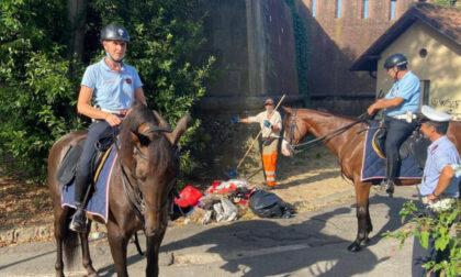 Polizia Municipale e Alia in azione nei giardini della Fortezza da Basso