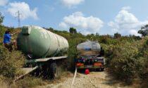 Ottomila litri per gli animali della Calvana portati in località Lavacchio