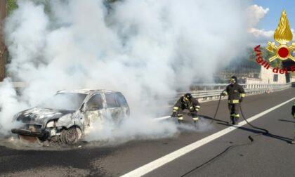 Incendio in autostrada a A1 questo pomeriggio