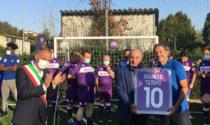 Decennale Quarto tempo: a Campi il patron Commisso taglia il nastro del nuovo campo da calcio