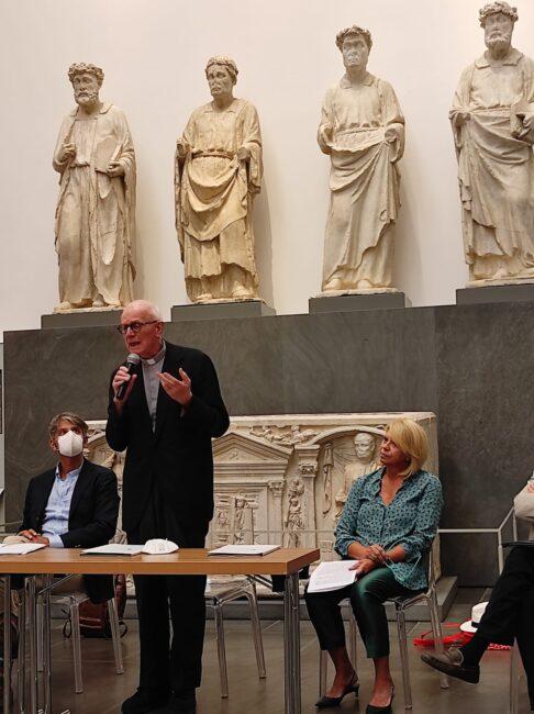 L'intervento di Monsignor Timothy Verdon, direttore artistico del Museo dell'Opera del Duomo e Canonico della Cattedrale