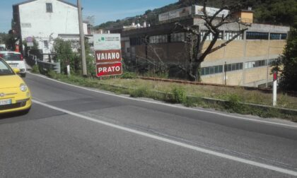 Ritornato il cartello di fine Prato a La Foresta sulla Sr325