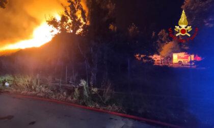 Incendio in una ditta di riciclaggio, sul posto i vigili del fuoco