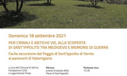 Vernio, per crinali e antiche vie, domenica 18 settembre alla scoperta  di Sant'Ippolito tra Medioevo e memorie di guerra