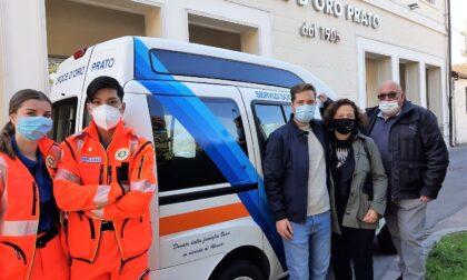 Famiglia dona furgone del figlio scomparso alla Croce d'Oro